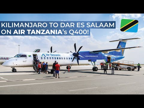 TRIPREPORT | Air Tanzania (ECONOMY) | Kilimanjaro - Dar Es Salaam | De Havilland Dash 8 Q400