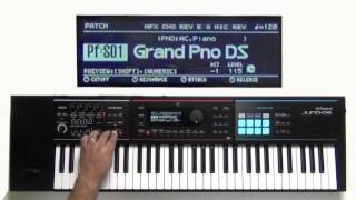 Roland Juno-DS - How to use Key Transpose