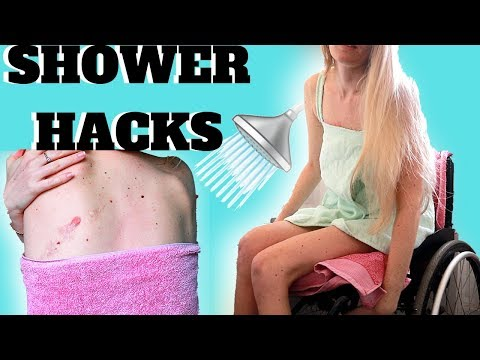 ♿️HOW I SHOWER AS A WHEELCHAIR USER | 🚿HACKS & SCAR CARE [CC]