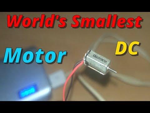 World's Smallest dc Motor