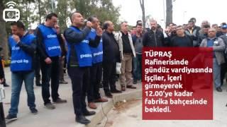 TÜPRAŞ Aliağa Rafinerisinde işçiler eylem yaptı