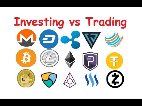 cryptocurrency investing vs trading