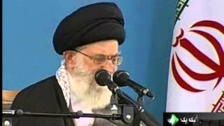 khamenei react to ahmadinejad and larijani dispute and demonstration against larijani in qum
