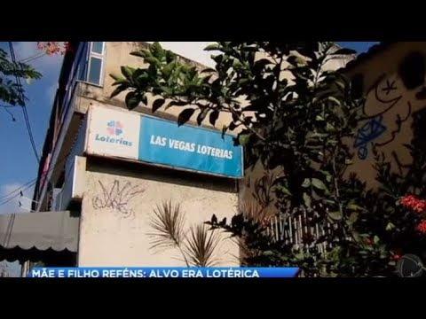 Mãe e filho são feitos reféns por assaltantes de lotérica no RJ