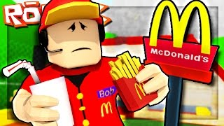 Roblox Adventures - TRABAJANDO EN MCDONALDS! (Escape McDonalds Obby)