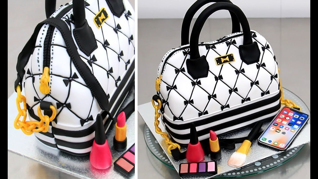 da0d77e27323 How To Make a Fashion HANDBAG Cake by Cakes StepbyStep - YouTube