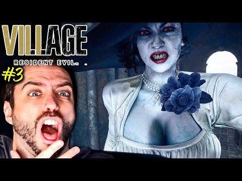 LADY DIMITRESCU ENSEÑA SU VERDADERO FÍSICO. Y ES HORRIBLE.   Resident Evil 8 Village #3