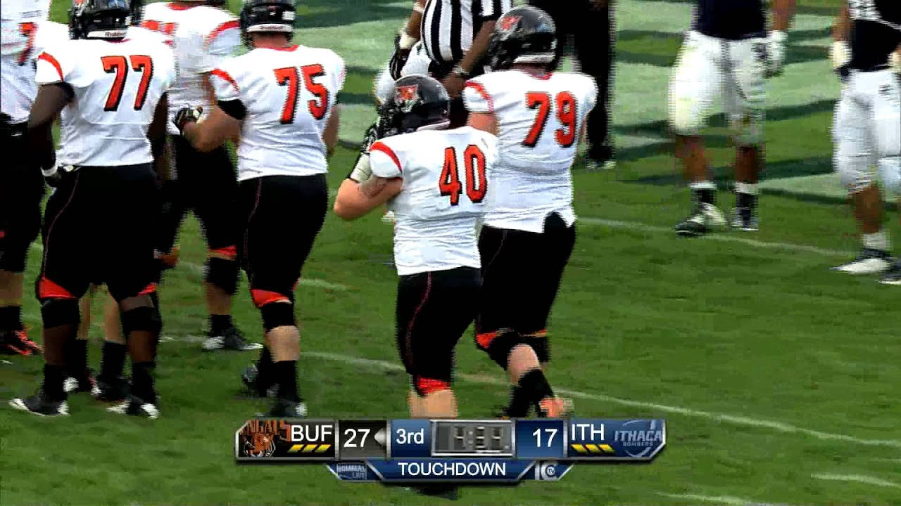 ic football vs. buffalo state - full game scoring highlight - 10/11