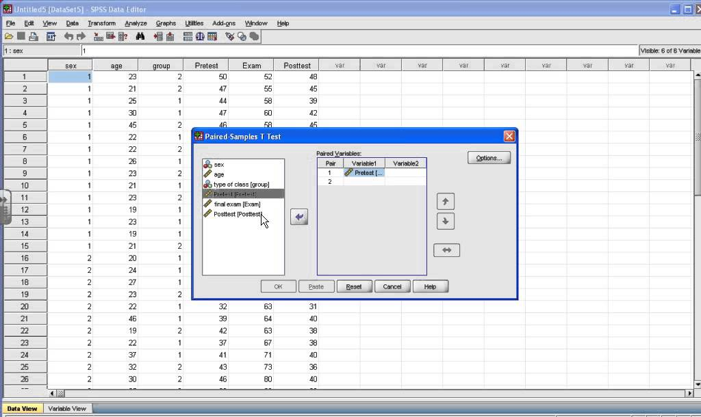 SPSS Tutorial: Paired Sample t test - YouTube