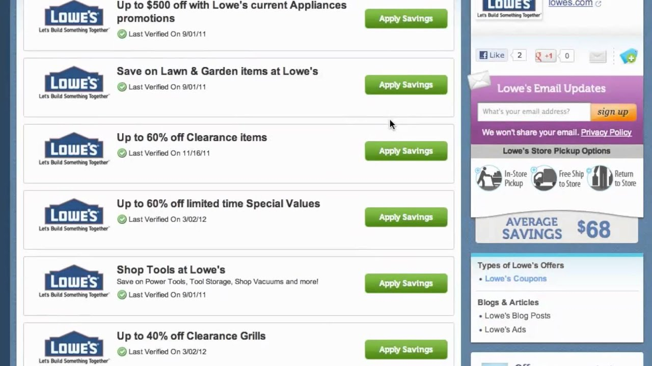 Loweu0027s Coupon Code 2013   How To Use Promo Codes And Coupons For Lowes.com    YouTube