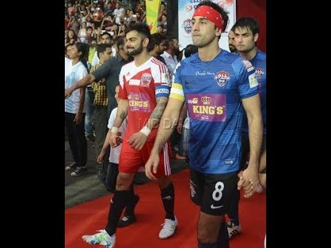 Indian *cricket team* vs *Bollywood stars*😊FOOTBALL matchVirat kohli© VS Ranbir Kapoor©