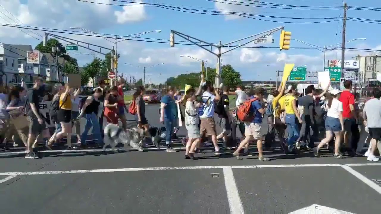Jews protesting to shut down illegal alien detention center in Elizabeth, NJ