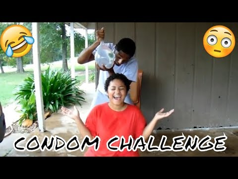 EXTREME CONDOM CHALLENGE ON GIRLFRIEND!!!! (TO FUNNY) #challenge #condoms #hilarious