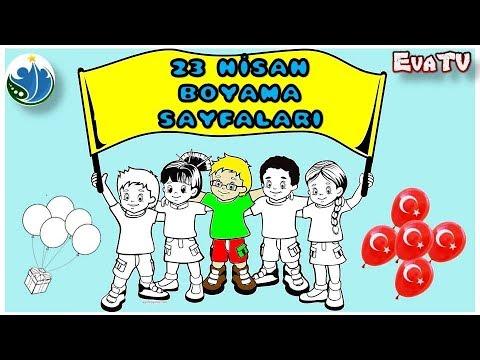 23 Nisan Boyama Sayfalari Youtube