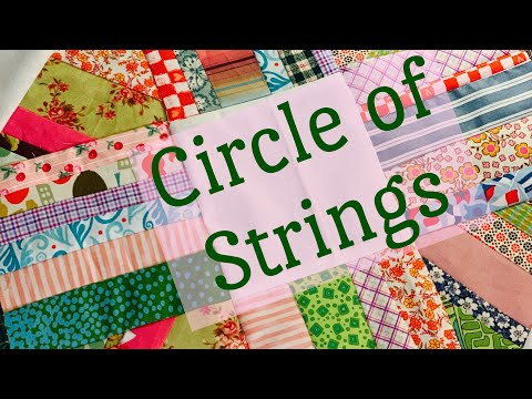 Circle of stings quilt block-learn to sew-scrappy quilt-simple sewing