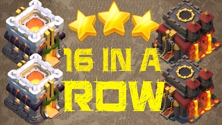"""""""COC STREAKING"""" - 16 Wins In a Row! TH10 & TH11 3 Star Highlights in Clash Of Clans"""