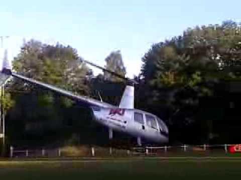 Un Hélicoptère En Difficulté Au Troc.com De Boninne