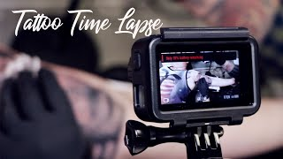 Black and Grey Tattoo Time Lapse