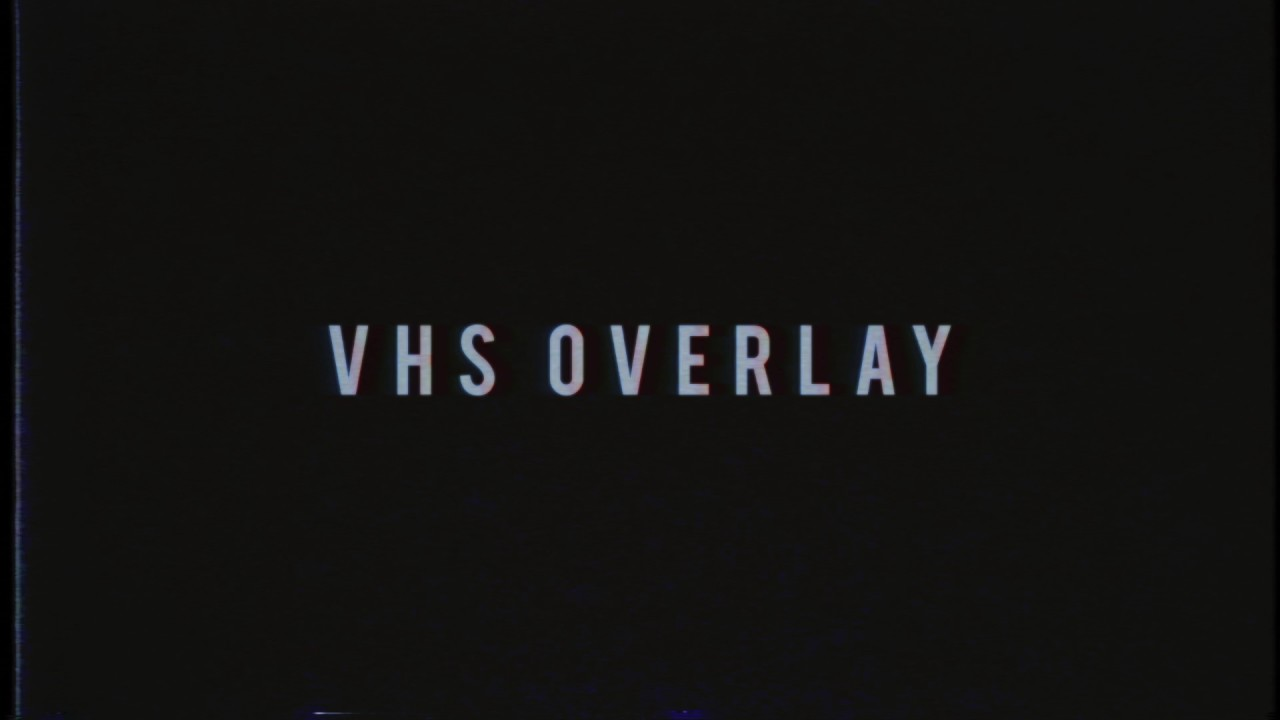 Glitch and VHS overlay