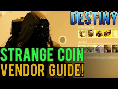 Destiny - Strange Coin Vendor Guide