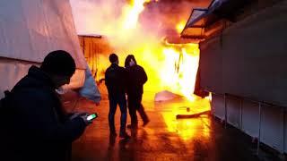 Большой пожар на Анголенко 3