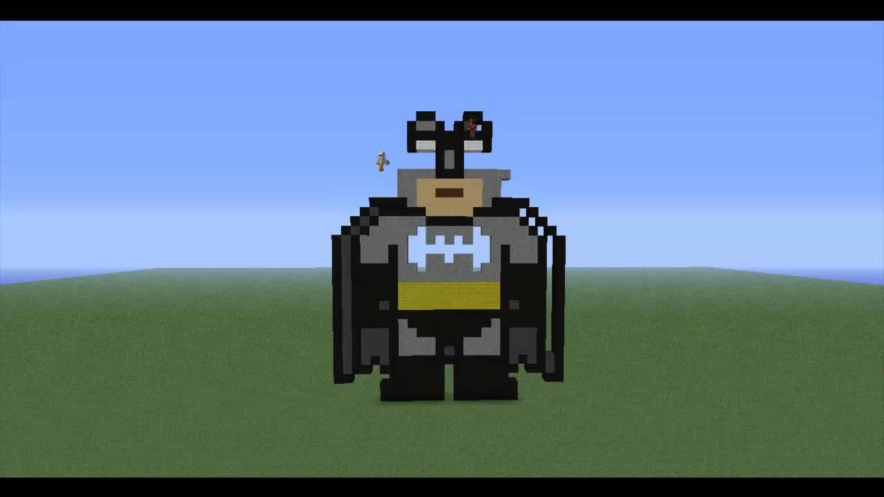 how to build batman in minecraft
