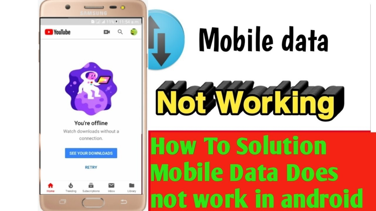 How To Solution Mobile Data Does Not Work On All Android Phone Latest Video 2019 Youtube