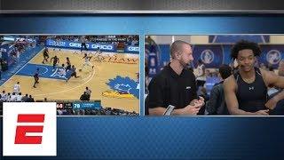 NBA draft analyst Mike Schmitz explains his scouting report to ex-Kansas star Devonte' Graham | ESPN