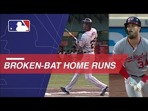 Harper becomes latest to hit broken-bat home run