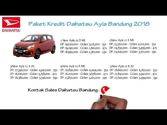 Kredit Daihatsu Ayla Bandung DP dan Cicilan Oktober 2018 | 082127725181