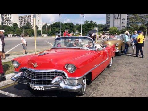 Havana  Cuba    Cadillac drive through city    2015