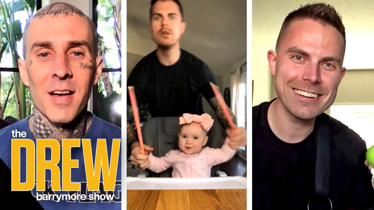 Travis Barker Surprises a TikTok Dad Who Loves Drumming with His Daughter