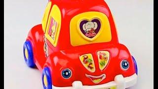 Обзор - распаковка игрушек Каталка машина на палке Арт: 1186