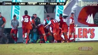 Lobo Soccer Draws Even with #18 San Diego 2-2