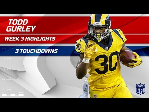 Todd Gurley Scores a Trio of Touchdowns vs San Francisco🔥  Rams vs 49ers  Wk 3 Player Highlights