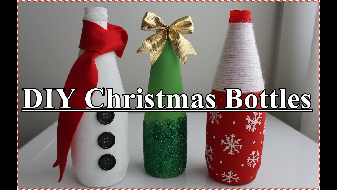 diy christmas bottles youtube