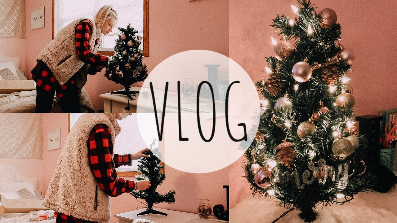 vlog: decorating for christmas! + target & old navy haul - YouTube