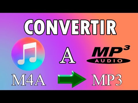 Como convertir archivos m4a a mp3 | Tutorial | 2017