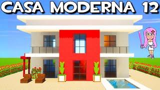 CASA MODERNA 12 EN  MINECRAFT🏡CÓMO HACER, CONSTRUIR Y DECORAR