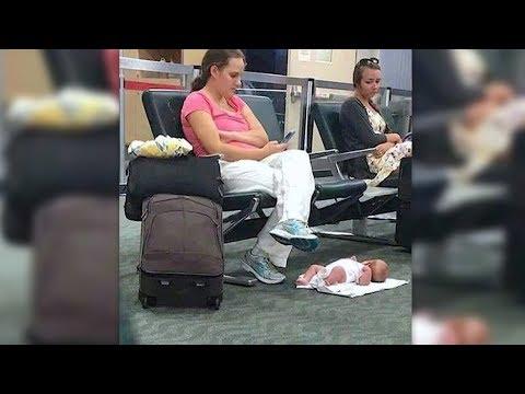 Die Frau legt ihr Baby auf den Flughafen – Menschen im Internet völlig entsetzt