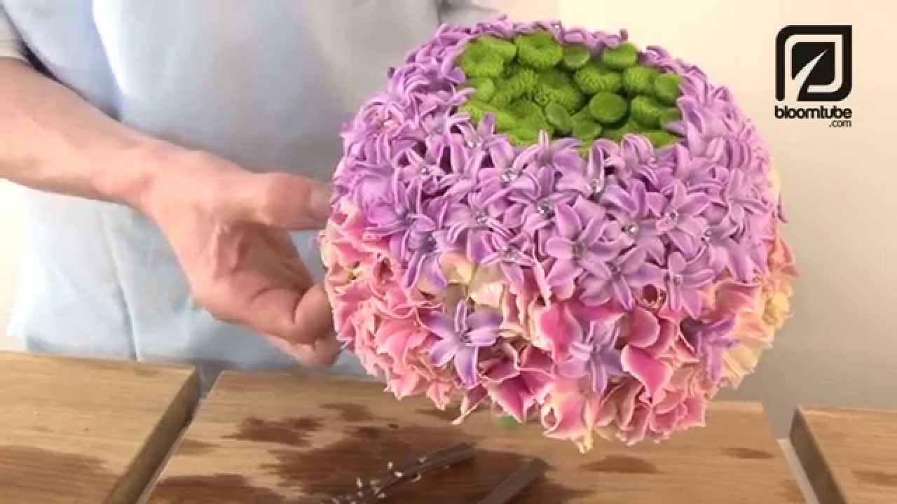 How To Make Bridal Bouquet With Spring Flowers Tutorial Youtube