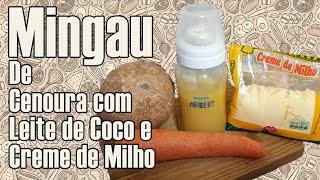 Mingau para Bebê - De Cenoura com Leite de Coco e Creme de Milho - papinha