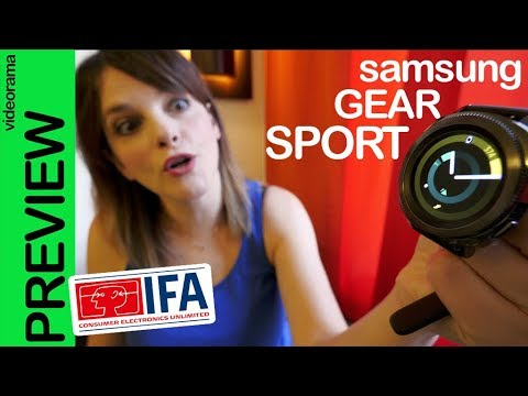 Samsung Gear Sport preview #IFA2017 -a nadar con Speedo-