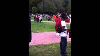 Crazy chick dancing at Boston Hemp Fest 9/18/10
