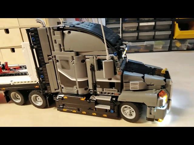 Lego Technik Mack Truck 42078 Flatbed Auflieger mit Licht