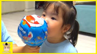 Giant candy challenge with iron man & Hulk ♡ kids Pororo cookies Mukbang  | MariAndKids Toys