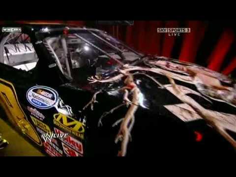 Kofi Kingston defaces The Viper's Randy Orton NASCAR @ WWE ...
