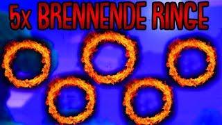Fortnite: durch brennende Ringe springen! | Woche 5 Herausforderung Season 6