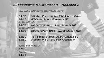 Süddeutsche Meisterschaft - Mädchen A - Halle 2020