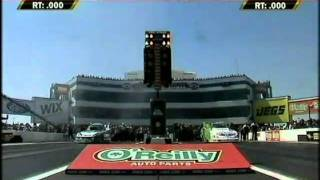 Paul Lee Takes Down John Force FC Rnd1 Eliminations O'Reilly Nationals Charolette NC. 2010.mpg